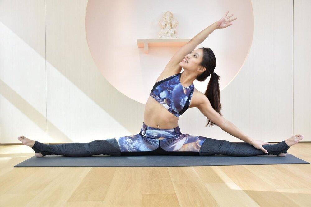 Непродолжительная тренировка по йоге